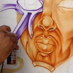 Instagram - Up close and personal #art #airbrush #create #airskillz #melcolmmccr