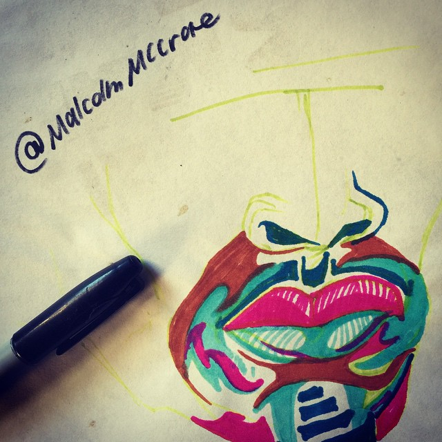 Instagram - Creativity is freedom! #malcolm #art #create #pen #ink #fun #malcolm
