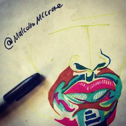 Instagram - Creativity is freedom! #malcolm #art #create #pen #ink #fun #malcolm