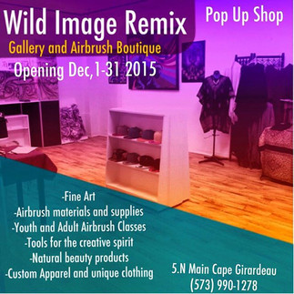 Malcolm McCrae opens Wild Image Remix Airbrush Boutique