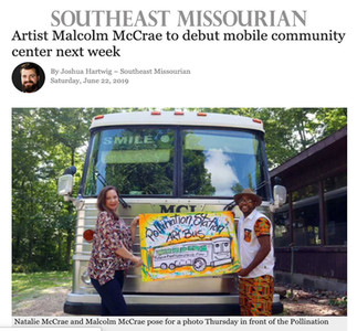 Artist Malcolm McCrae to debut mobile community center