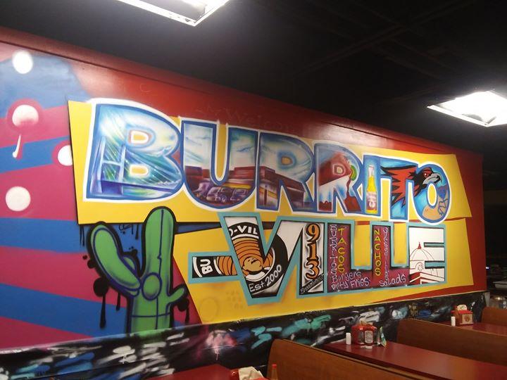 burrito-ville mural