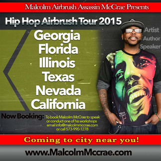 Hip Hop Airbrush Tour coming to a city near you!