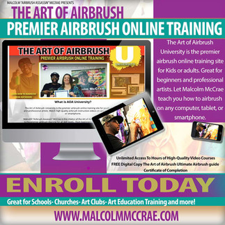Malcolm's Virtual Airbrush Class for Kids and Adults