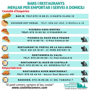 Copia de BARS I RESTAURANTS Menjar per e