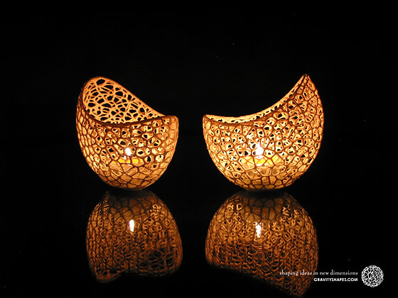 duo de porte-bougie / LED