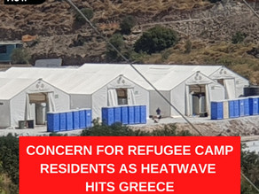 Concern for refugee camp residents as heatwave hits Greece