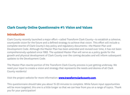 First Online Input Opportunity Launches!