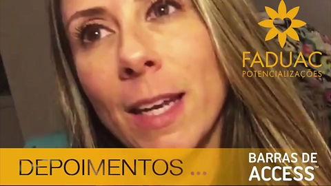 Depoimentos dobre o curo BARRAS DE ACCESS em Alphaville  SP ministrado pela potencializadora FÁDUA CHOAIB - FADUAC POTENCIALIZAÇÕES