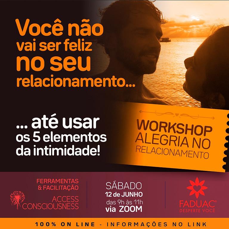WORKSHOP ALEGRIA NO RELACIONAMENTO