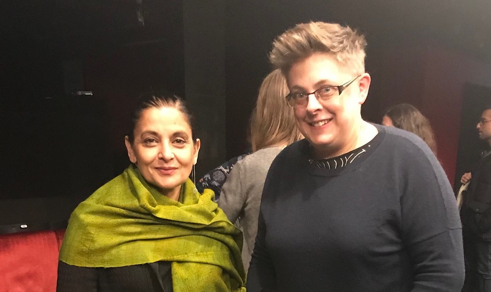 Sudha Bhuchar and Suzanne Bell at the 2019 Kenneth Tynan Award Ceremony at Soho Theatre