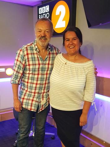 With Graham Norton on his Radio 2 show