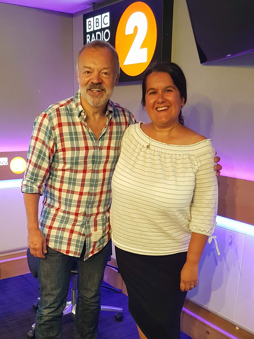 With Graham Norton on his Radio 2 show