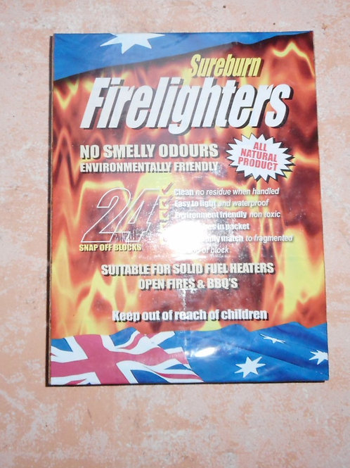 SURE BURN FIRELIGHTERS