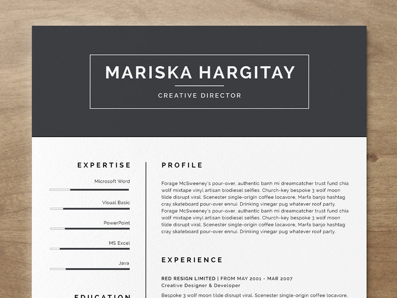 High-Quality Resumes