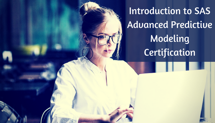 What is SAS Certified Visual Modeler Using SAS Visual