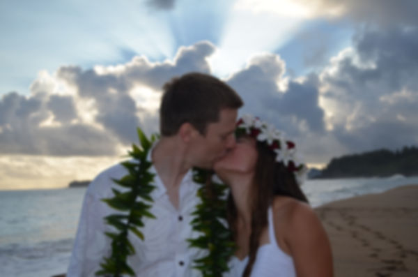 kauai sunset beach wedding video