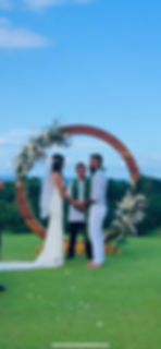 kauai wedding flowers floral arch circle