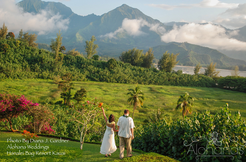 kauai destination wedding garden