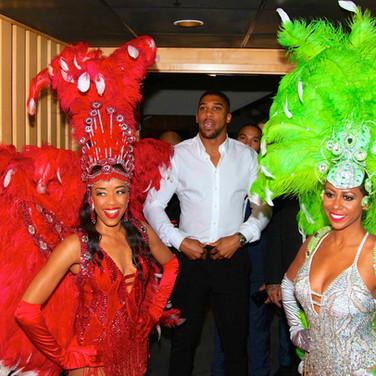 Tropicalia Dancers with Anthony Joshua
