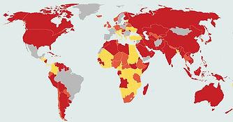 Bolleras viajeras - Restricciones covid por paises para viajar desde España