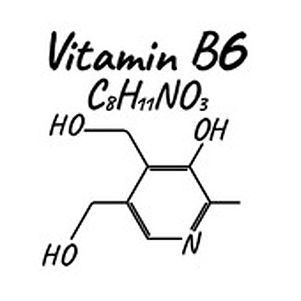 TN Scientific The Hangover Pill Ingredient Research Vitamin B6 Chemical Formula Makeup on white background
