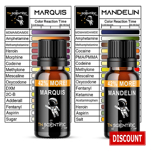 TN Scientific | Marquis, Mandelin Reagent Testing Kit ~