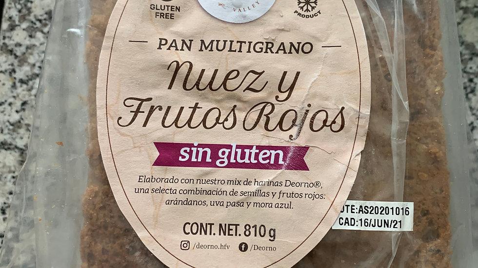 Pan multigrano NUEZ Y FRUTOS ROJOS