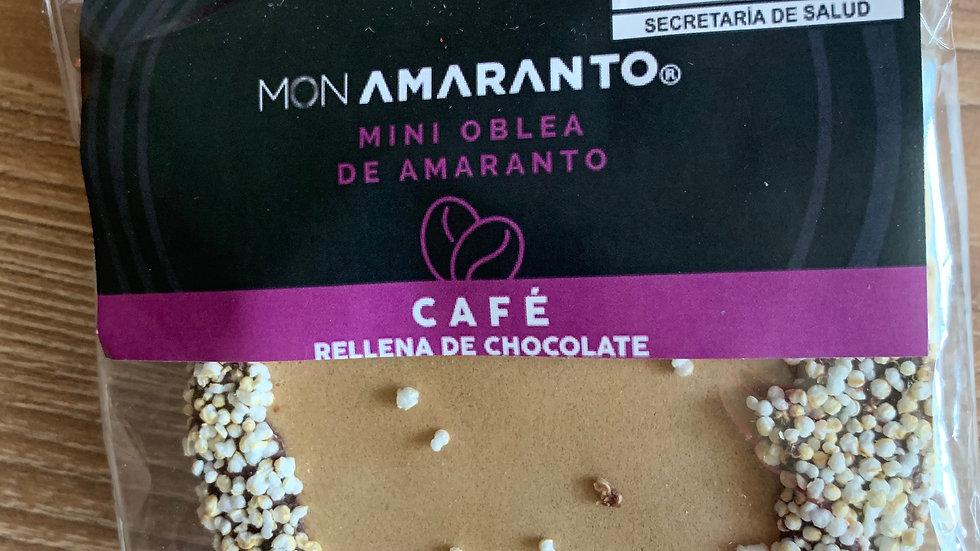 Obleas de amaranto rellenas de chocolate sabor CAFÉ