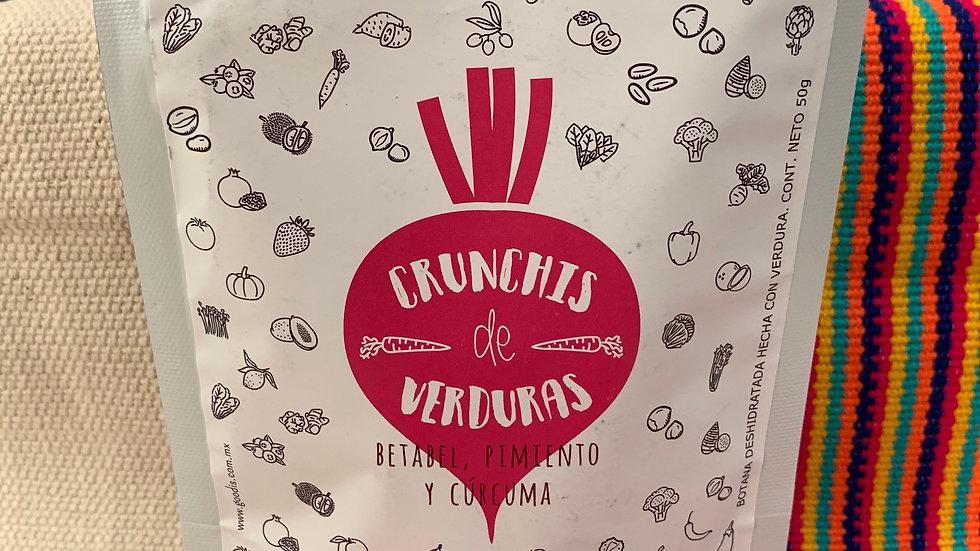 SNACKS DE VERDURAS BETABEL, PIMIENTO Y CÚRCUMA