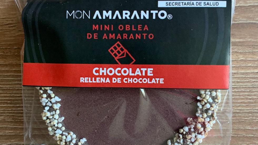Obleas de amaranto rellena de chocolate SABOR CHOCOLATE