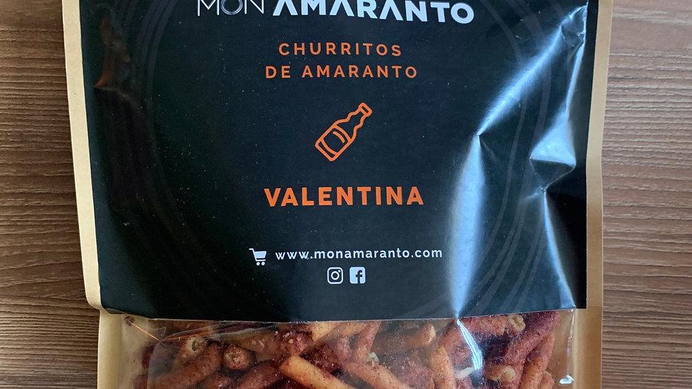 Churritos de amaranto sabor VALENTINA