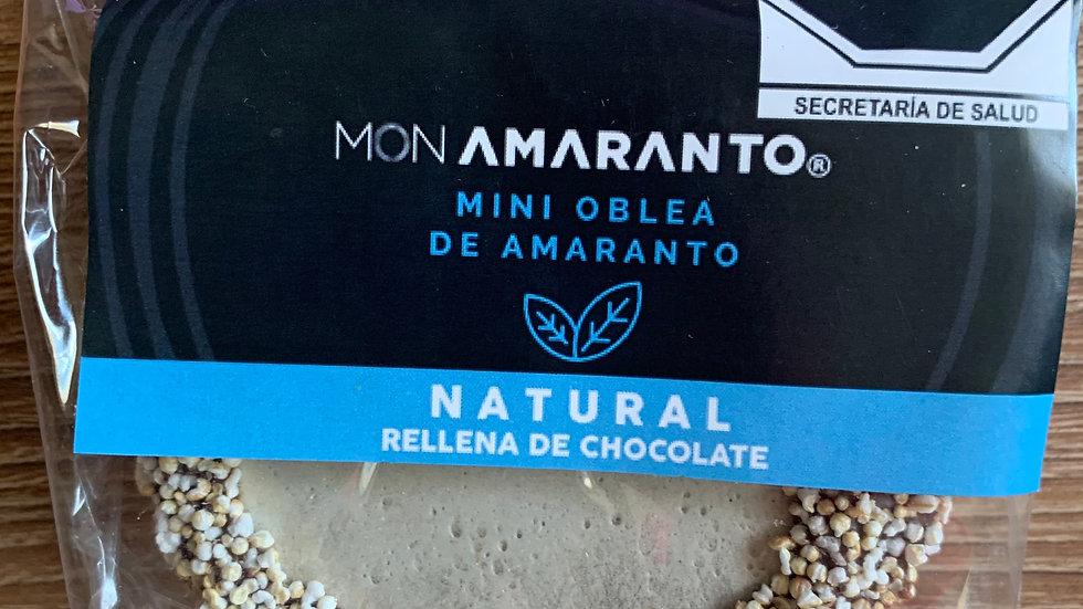 Obleas de amaranto rellenas de chocolate sabor NATURAL