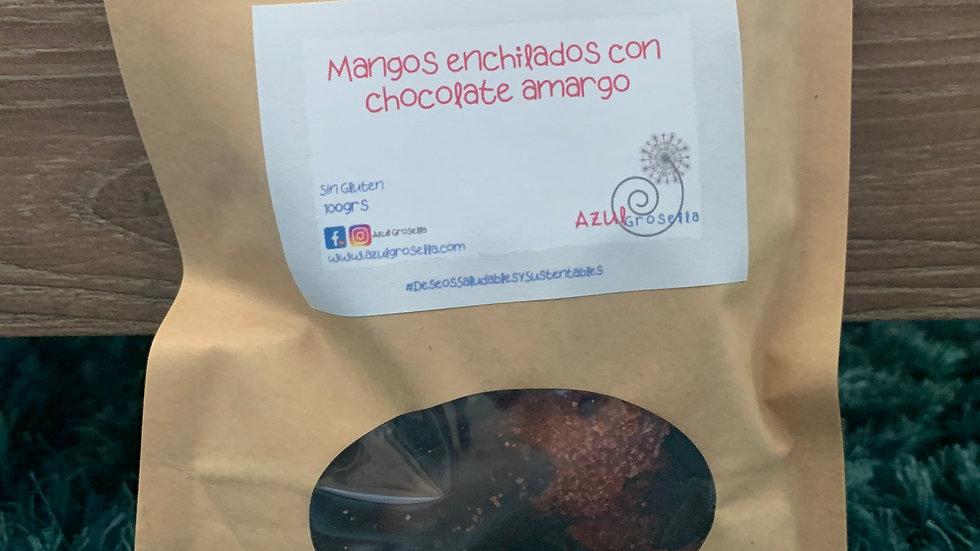 Mangos ENCHILADOS con chocolate oscuro