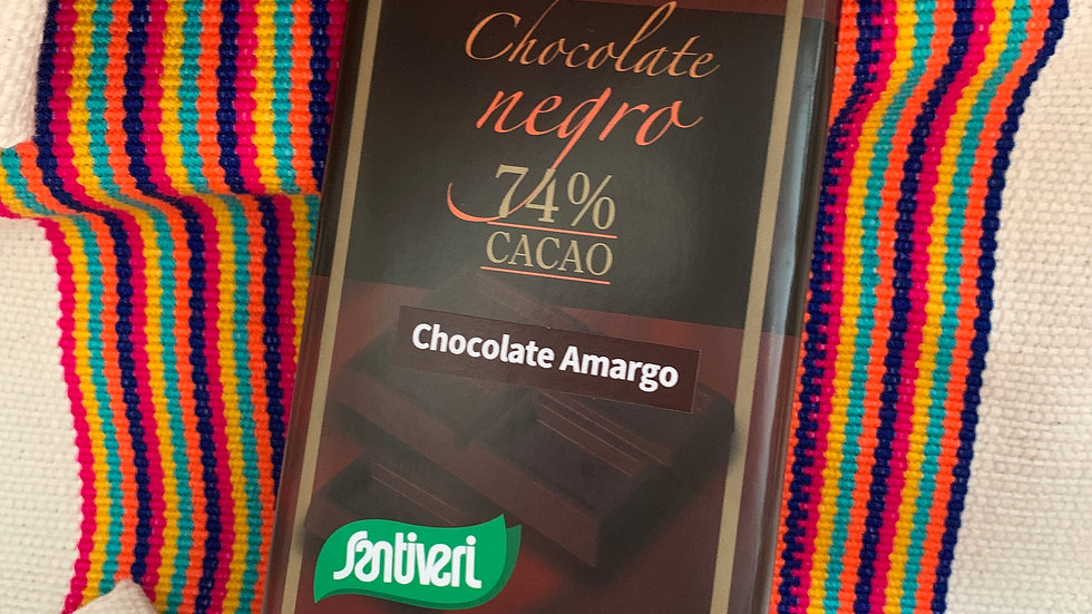 Chocolate amargo 74% cacao SIN GLUTEN