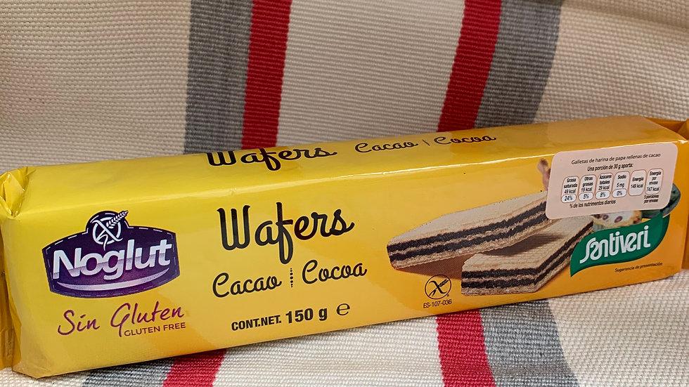 Galletas WAFFLE sabor chocolate SIN GLUTEN