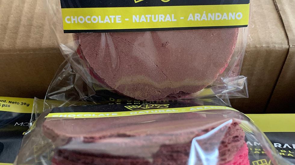Obleas sencillas mix chocolate, natural, arándano