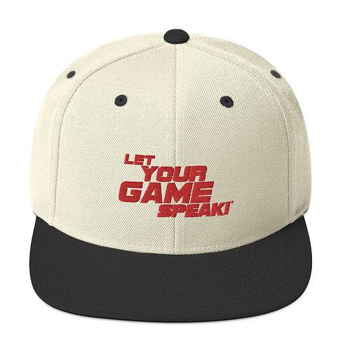 Let Your Game Speak - Snapback Hat