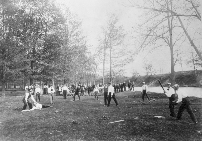 Baseball at Hubinger Grove 1894