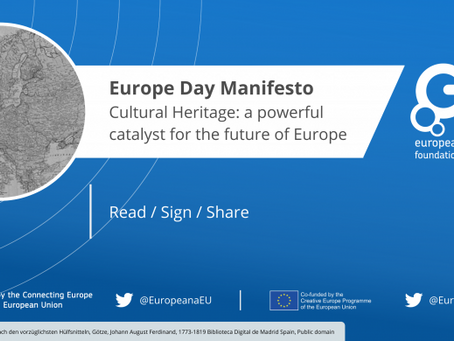 Europe Day Manifesto Published: 'Cultural Heritage: a powerful catalyst for the future of Europe'