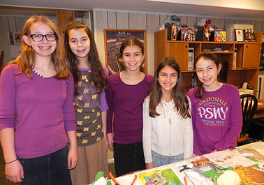 Friends doing a bat mitzvah project