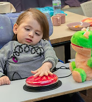 Girl doing occupational therapy