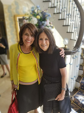 two ladies at a home event