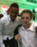 UK Bar Mitzvah boy Jude Garcia with his