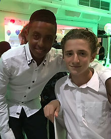 UK Bar Mitzvah boy Jude Garcia with his