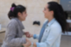 Young teen and volunteer at Keren Or