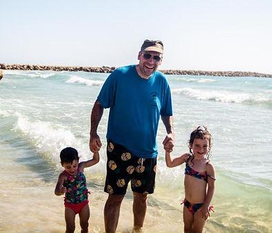Rabbi Hammer with his grandchildren