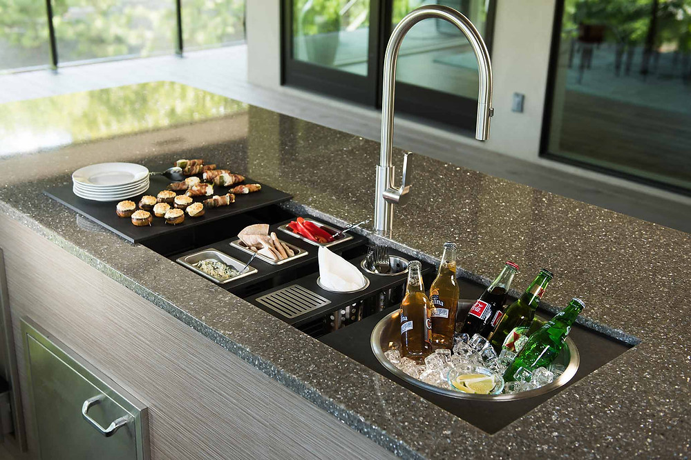 modern versatile kitchen sink workstation entertaining