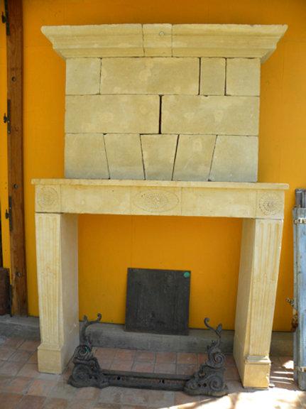 Antique Limestone Fireplace FPHD.1215