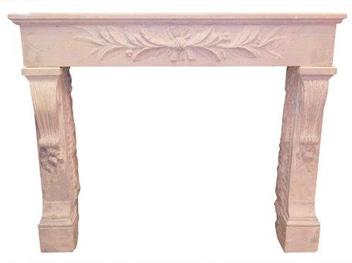 Antique Limestone Fireplace FPHD.1289